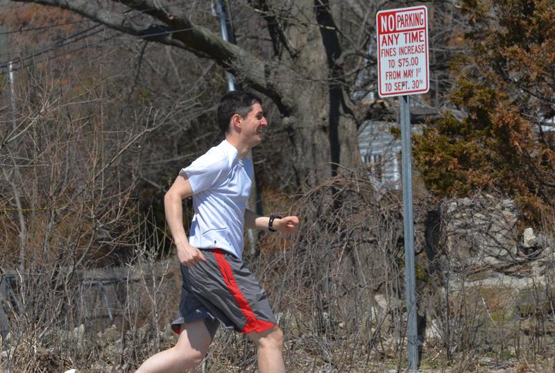 Andrew runs